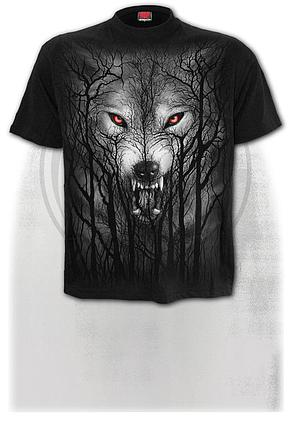 FOREST WOLF - T-Shirt Black